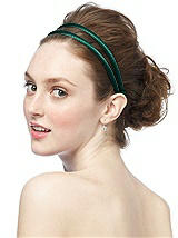 Stretch Charmeuse Double Head Band