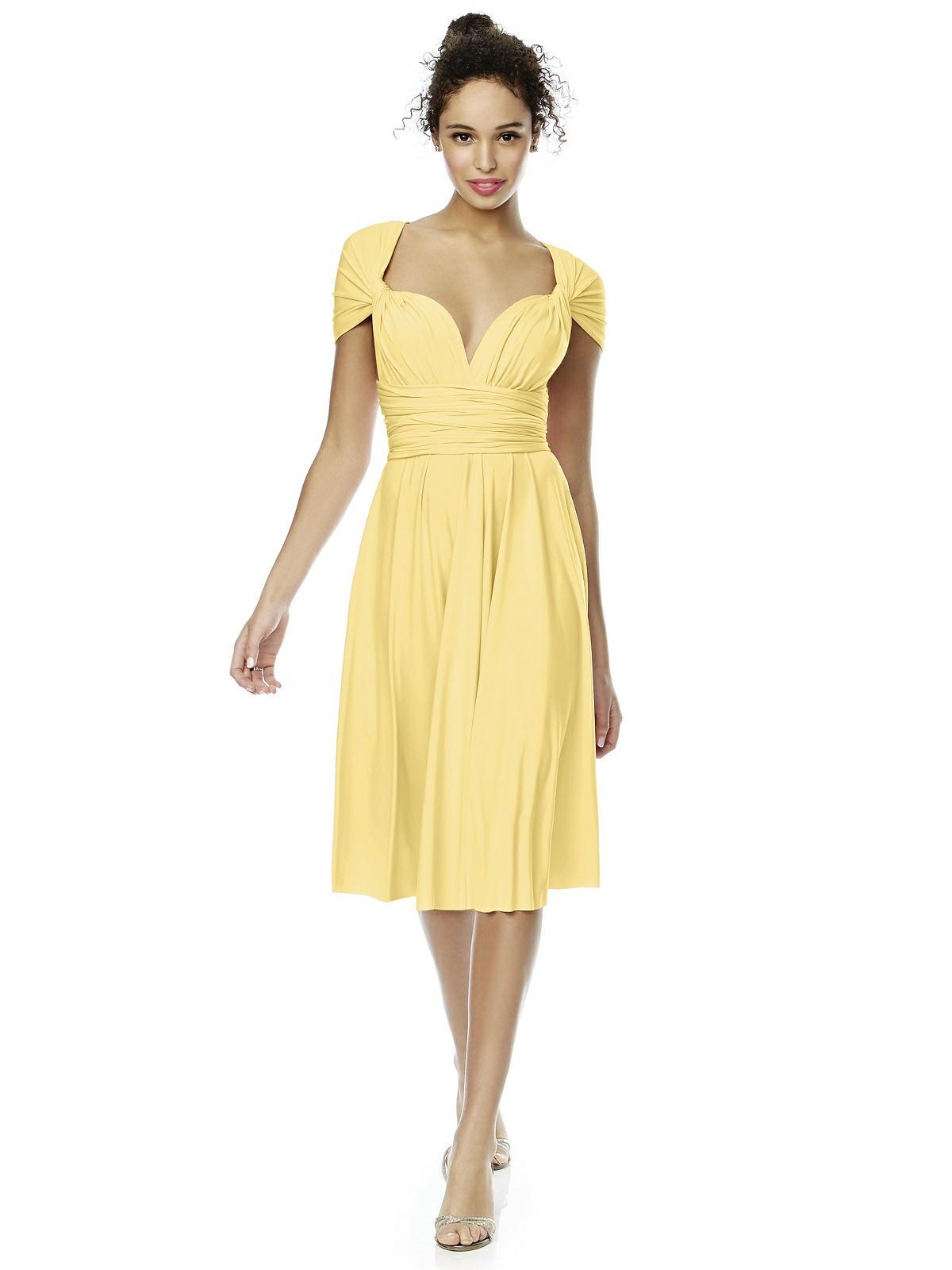 Convertible Dress The Twist Wrap Dress Short The Dessy
