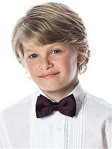 Boy's Clip Bow Tie in Duchess Satin