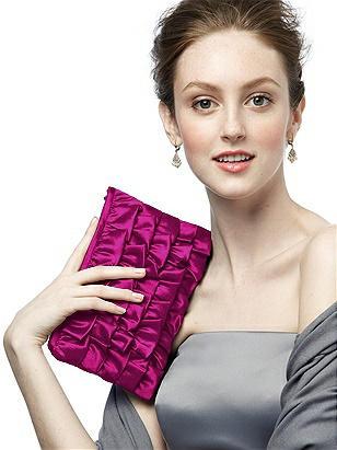 Peau De Soie Ruffle Clutch http://www.dessy.com/accessories/peau-de-soie-ruffle-clutch/
