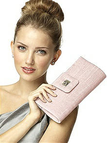 Dupioni Tear Drop Rectangle Clutch
