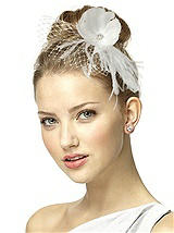 Feather Flower Blusher Headpiece