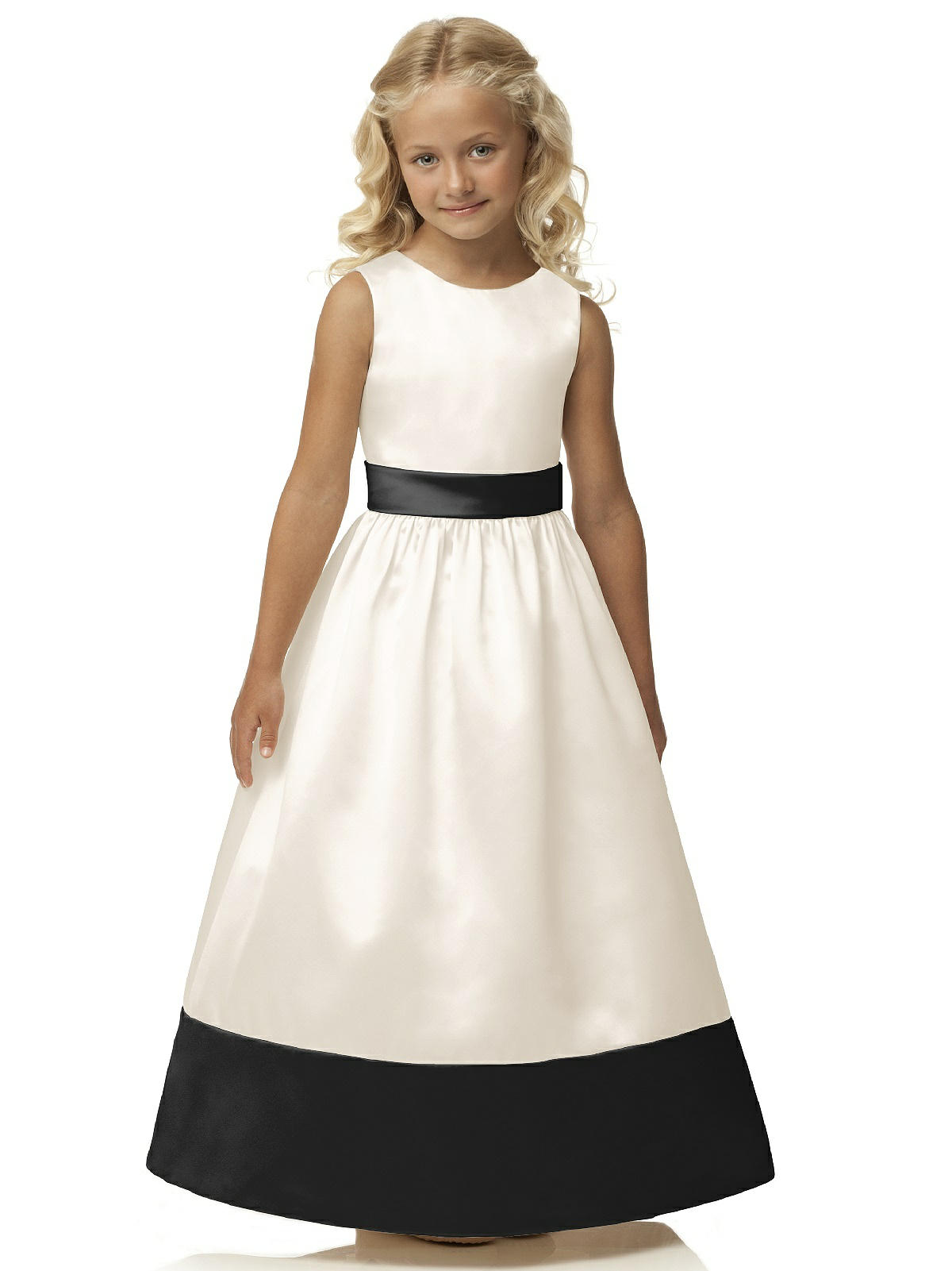 black and white flowergirl dress