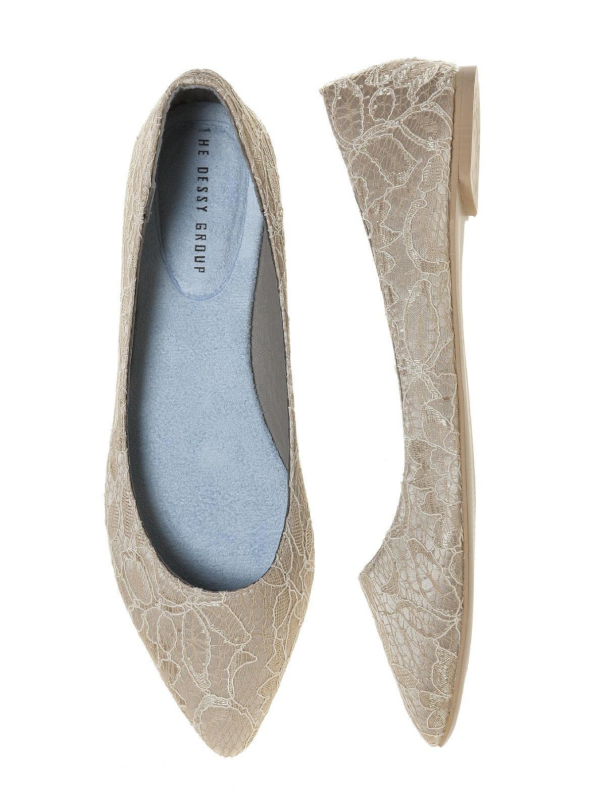 lace ballet flat shoe