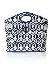 Bella Navy Lattice Tote