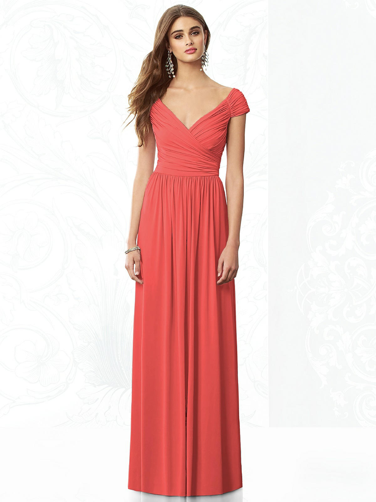 red sweetheart neckline bridesmaid dress
