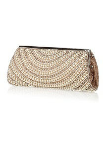 Deco Pearl and Rhinestone Bridal Clutch