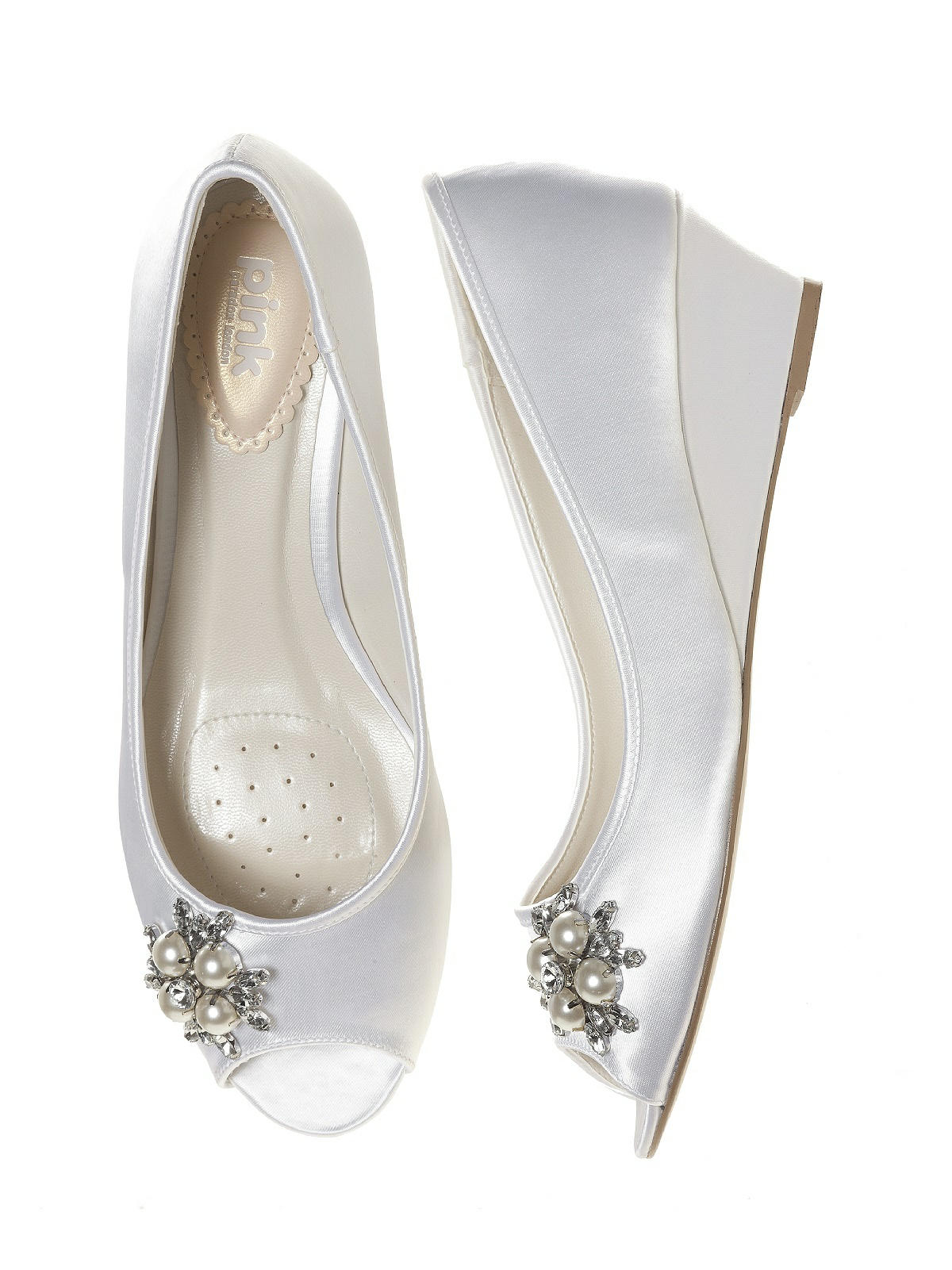 Frosting Dyeable Satin Bridal Wedge The Dessy Group