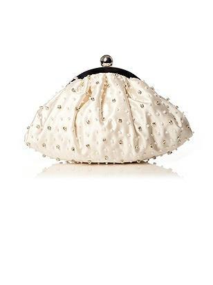Beaded Matte Satin Bridal Clutch http://www.dessy.com/accessories/beaded-matte-satin-bridal-clutch/