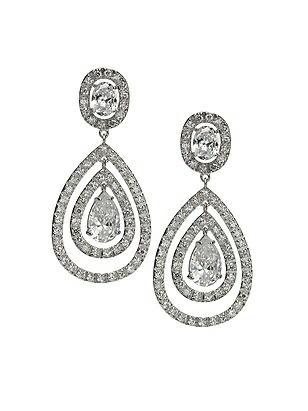 CZ Nested Drop Earrings http://www.dessy.com/accessories/cz-nested-drop-earrings/