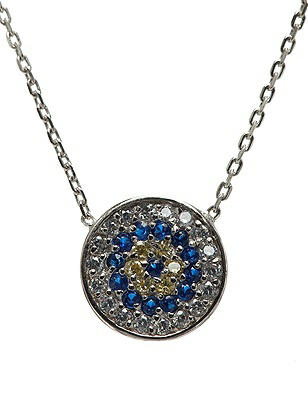 CZ Evil Eye Pendant Necklace http://www.dessy.com/accessories/evil-eye-pendant-necklace