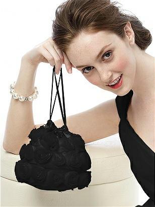Chiffon Rosette Handbag http://www.dessy.com/accessories/chiffon-rosette-handbag/