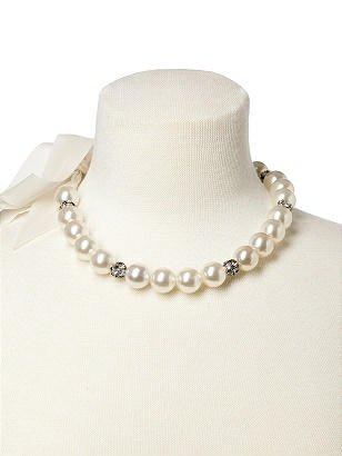Faux Pearl Bridal Necklace http://www.dessy.com/accessories/faux-pearl-bridal-necklace/