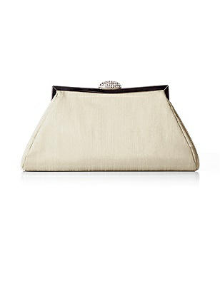 Dupioni Trapezoid Clutch with Jeweled Clasp http://www.dessy.com/accessories/trapezoid-clutch-purse/