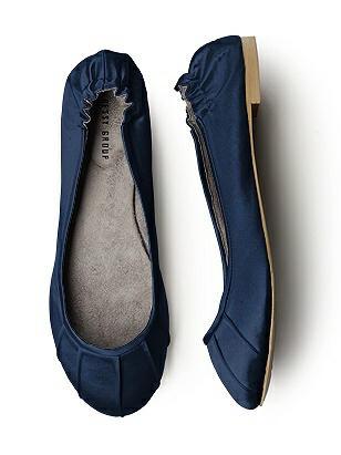 Pleated Satin Ballet Flat http://www.dessy.com/accessories/pleated-satin-ballet-flat/