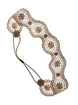 Bronze Nude Lace Stretch Headband