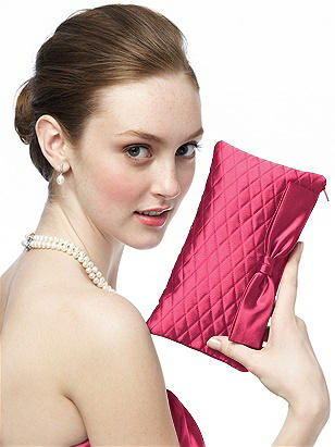 Quilted Clutch in Matte Satin http://www.dessy.com/accessories/bridesmaids-quilted-clutch-bag/