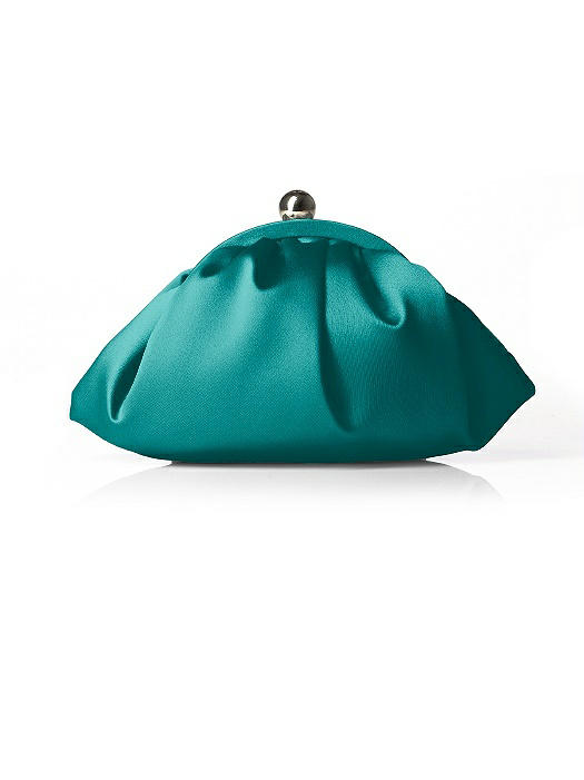 Gathered Matte Satin Clutch The Dessy Group