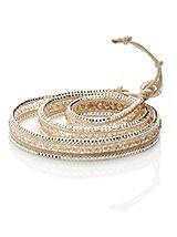 Wrap Bracelet with Rhinestone Detail